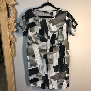 NY & Co. Black & Gray Short Sleeve Tunic Or Dress.